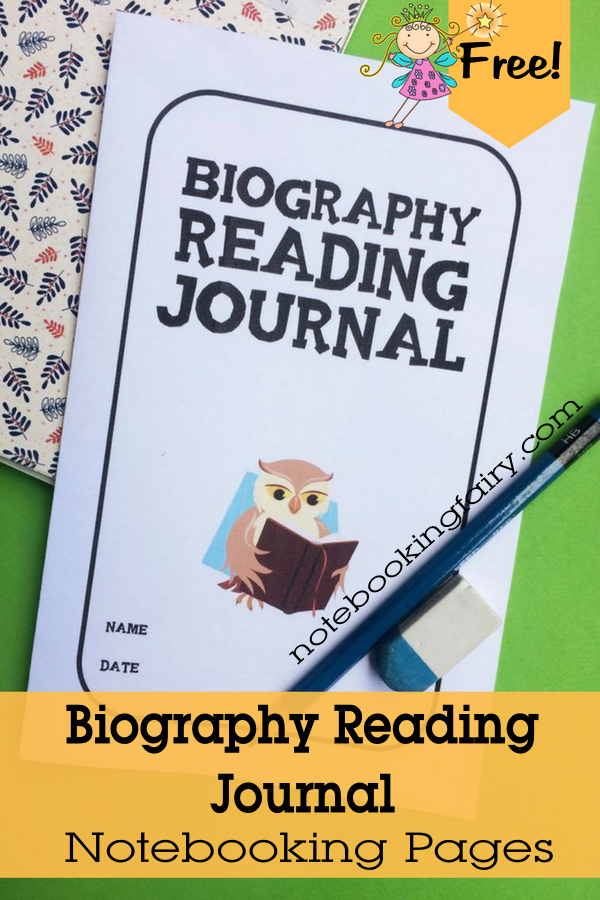 This printable Biography Reading Journal is quick and easy to print and ready to go! :: www.thriftyhomeschoolers.com