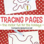 Free Christmas Fine Motor Tracing Pages