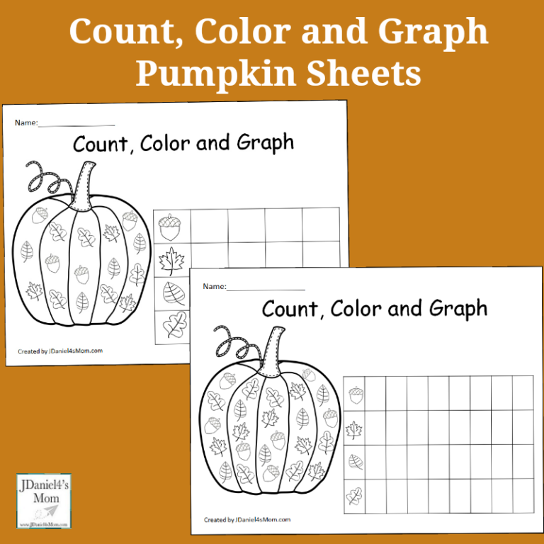 These Pumpkin themed Graphing Sheets are the perfect addition to any pumpkin or fall unit study! :: www.thriftyhomeschoolers.com