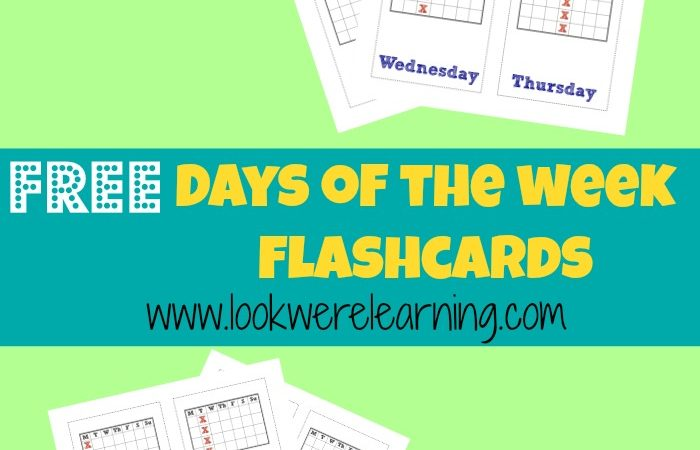 Printable Days of the Week Flashcards