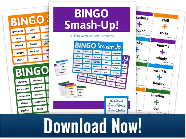 Do you know what a Portmanteau is? I didn't realize the official name until I saw this fun pack! Head over now to find out more & get this FREE BINGO game! :: www.thriftyhomeschoolers.com