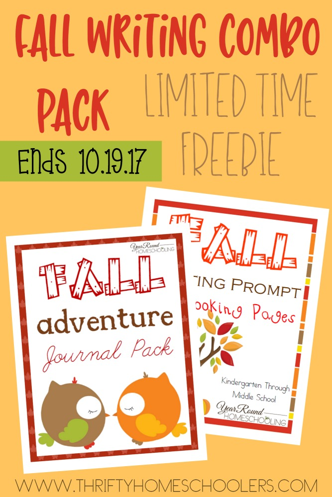 For ONE WEEK ONLY, you can grab this Fall Writing Combo Pack FREE - only at Thrifty Homeschoolers! :: www.thriftyhomeschoolers.com