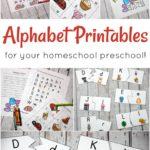 Free Alphabet Printables for Preschoolers