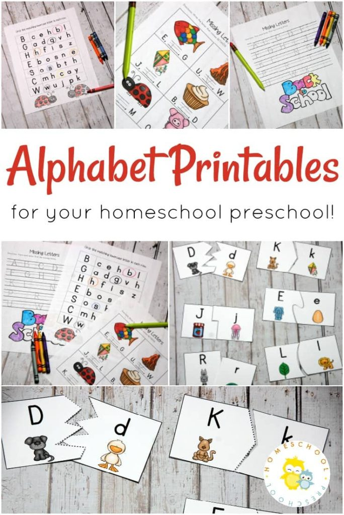 These fun printables are sure to make learning letters more fun for your preschooler! :: www.thriftyhomeschoolers.com
