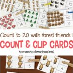 Free Forest Friends Clip Cards (1-20)