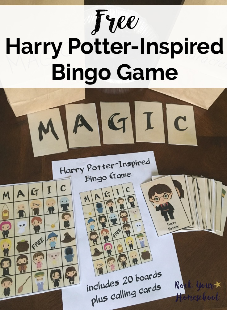 Harry Potter Inspired Printable BINGO Cards