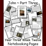 Free Book of John Notebooking Pages