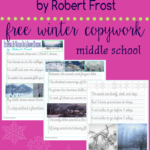 Free Robert Frost Winter Poem Cursive Copywork