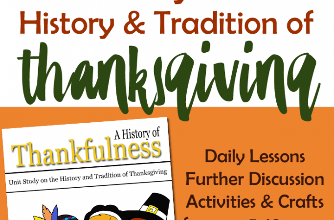 Unit Study on the History of Thanksgiving