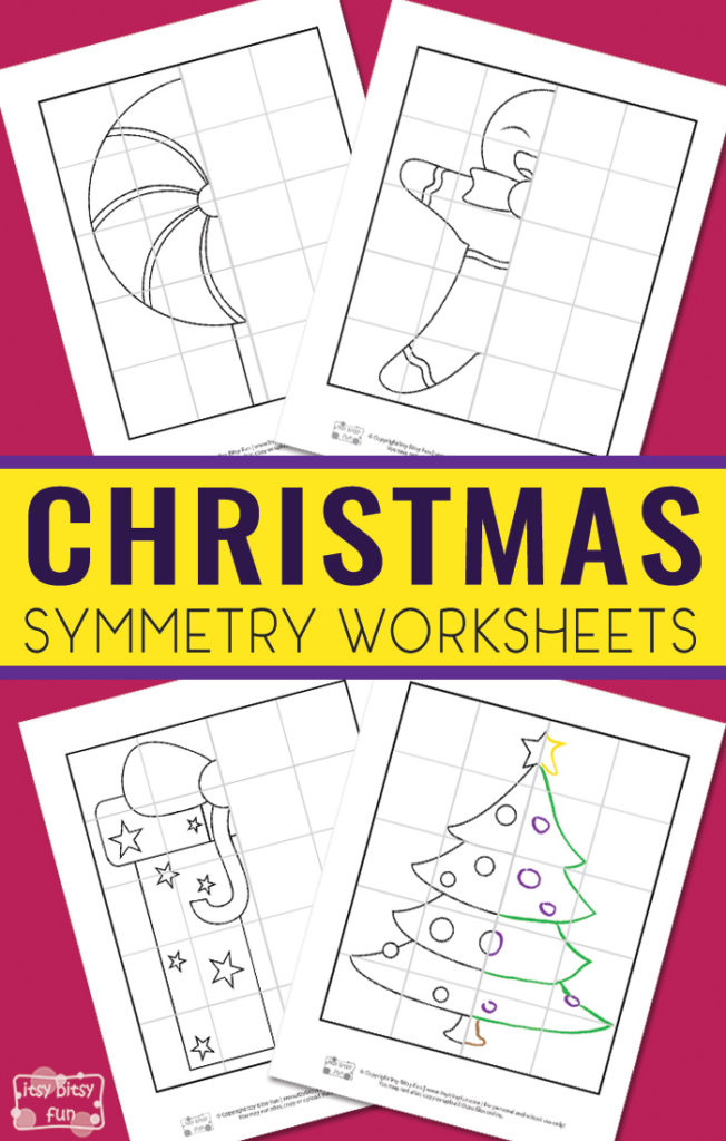 Whether you have a budding artist in the house or kids that just like to draw, these Christmas themed Symmetry worksheets are perfect for those cold days! :: www.thriftyhomeschoolers.com