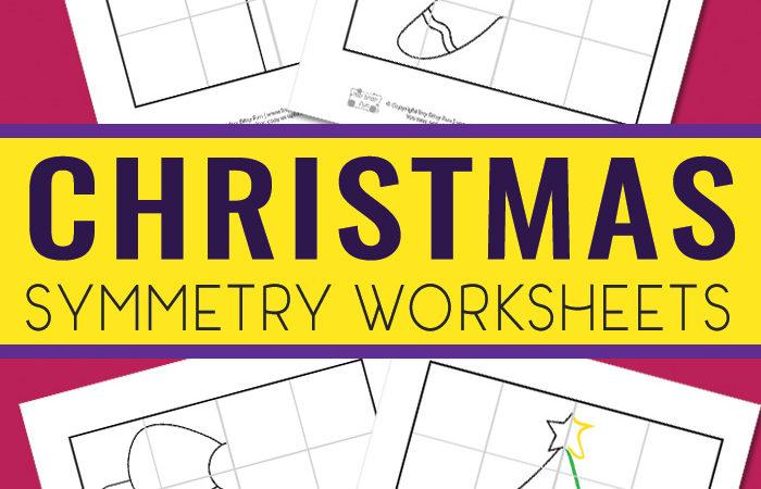 Free Christmas Symmetry Printables