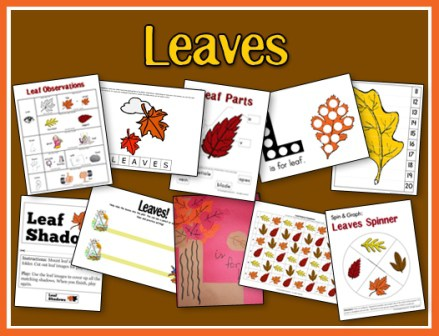 Little ones can learn about Leaves with this fun printable pack! :: www.thriftyhomeschoolers.com