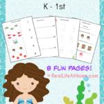 Free Mermaid Printable Pack (K-1)