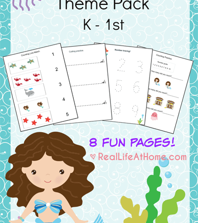 Free Mermaid Printable Pack (K-1)