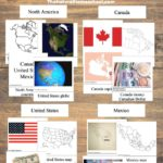 North America for Kids – Printable Geography 3-Part Cards
