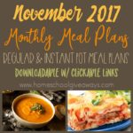 Free Monthly Meal Plan for November