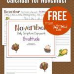 November Scripture Copywork Calendar