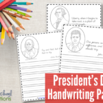 Free President's Day Handwriting Pages
