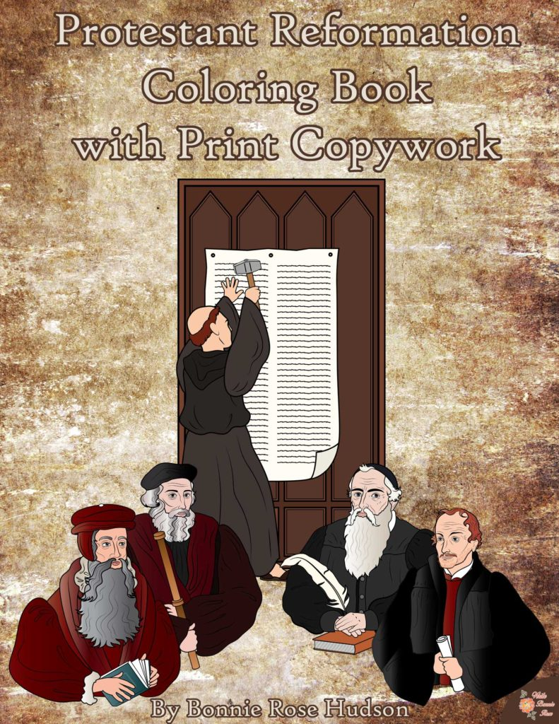 Add these Reformation Day Copywork printables to your October 31st studies. Available in both print and cursive. :: www.thriftyhomeschoolers.com