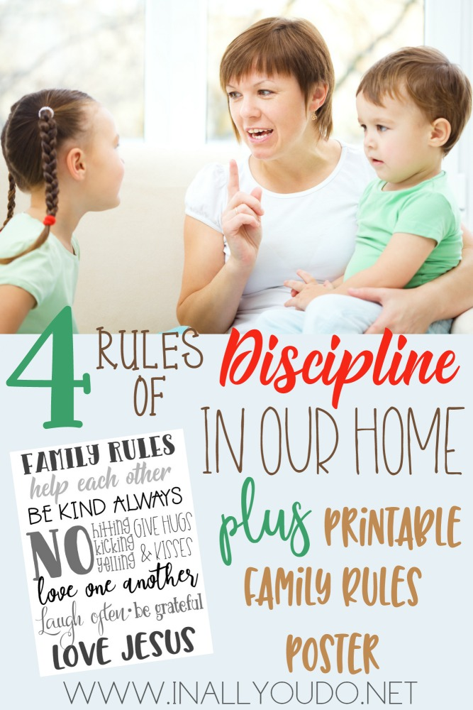 This printable Family Rules Poster is a great reminder and way to curb discipline issues in your home! :: www.thriftyhomeschoolers.com