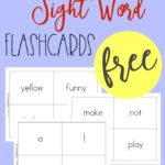 Free Pre-Primer Sight Word Flashcards