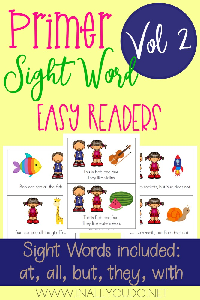 These Primer Sight Word Readers are a great way to help little ones improve their reading skills and gain confidence! :: www.thriftyhomeschoolers.com