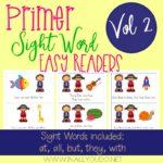 Primer Sight Word Readers – Set 2