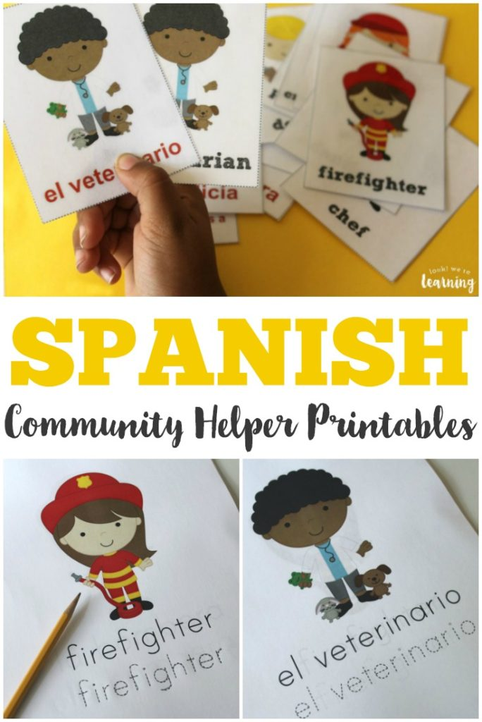 photo regarding Spanish to English Flashcards With Pictures Printable identified as Cost-free Spanish Neighborhood Helpers Printables - Thrifty