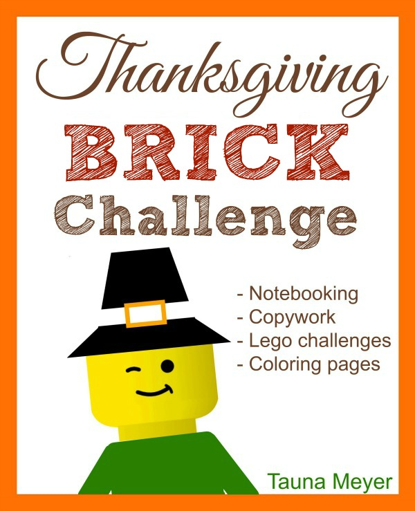 This Thanksgiving Brick Challenge is sure to keep your kids occupied and having fun for the week leading up to Thanksgiving. :: www.thriftyhomeschoolers.com