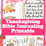 Thanksgiving Bible Journaling Printable Freebies