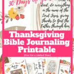 Thanksgiving Bible Journaling Printable Freebies