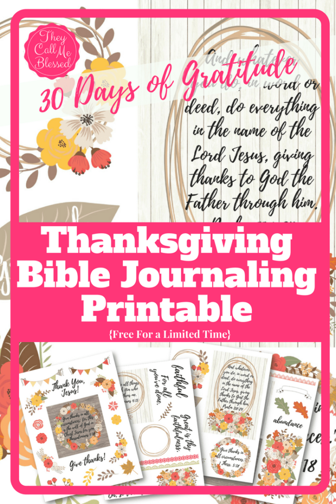 Are you a Bible Journaling person? Maybe you're afraid to get started? These beautiful Thanksgiving Bible Journaling printables can help get you started! :: www.thriftyhomeschoolers.com