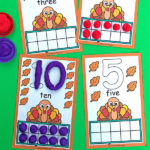 Free Thanksgiving Ten Frames
