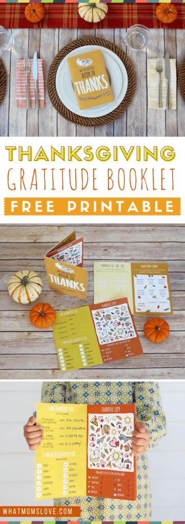 Help your kids work on their attitude of gratitude this year with this printable Thanksgiving Gratitude Booklet. :: www.thriftyhomeschoolers.com