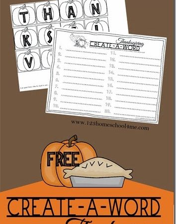Free Thanksgiving Spelling Activity