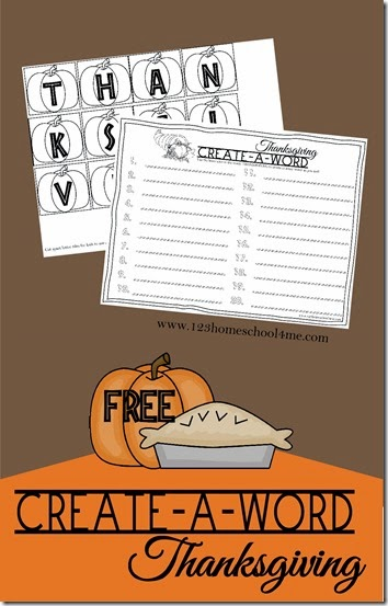 This FREE printable Thanksgiving Spelling Activity is perfect to put out before or after the big family meal! :: www.thriftyhomeschoolers.com