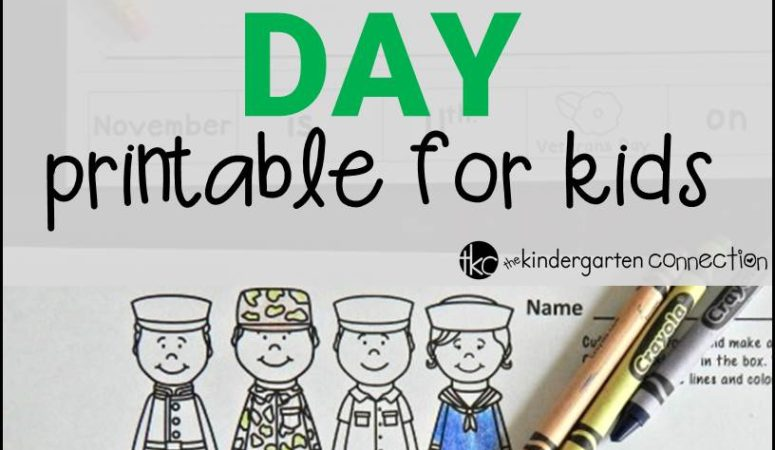 Freebie – Veterans Day Printable for Kids