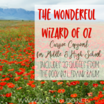 Free Wizard of Oz Cursive Copywork