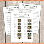 3 Levels of Zoo Scavenger Hunt Printables