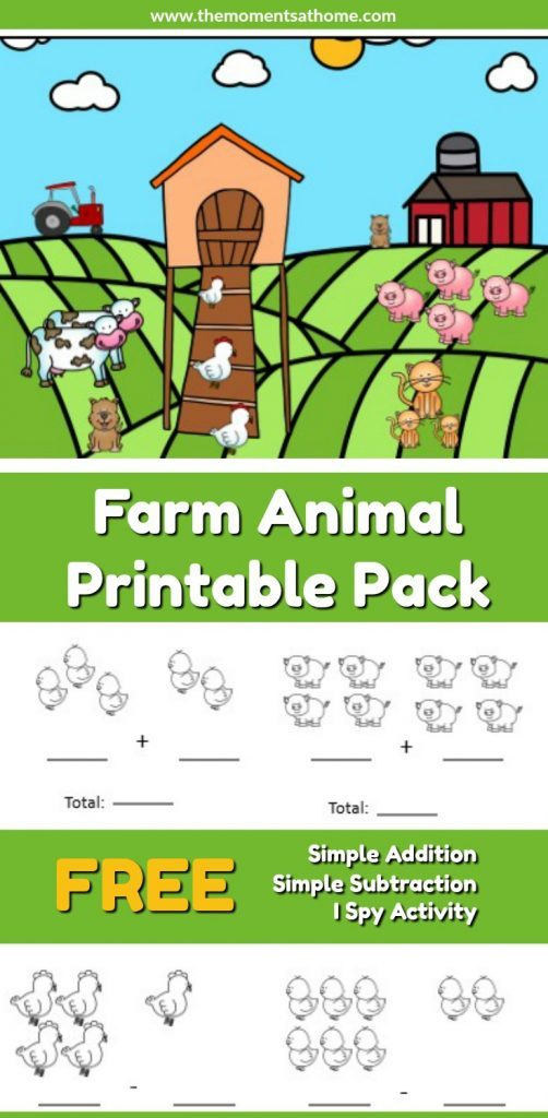 free farm animal addition subtraction worksheets. Black Bedroom Furniture Sets. Home Design Ideas