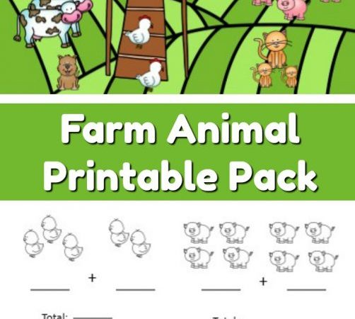 Free Farm Animal Addition & Subtraction Worksheets