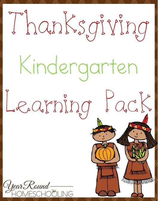Kindergartners will love working through this Free Thanksgiving Learning Pack before the big holiday. :: www.thriftyhomeschoolers.com
