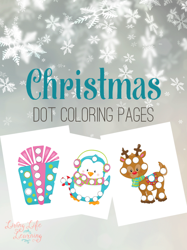 These Christmas Dot Coloring Pages are the perfect activity for little ones this holiday season! :: www.thriftyhomeschoolers.com