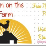 Free Down on the Farm Notebooking Pages