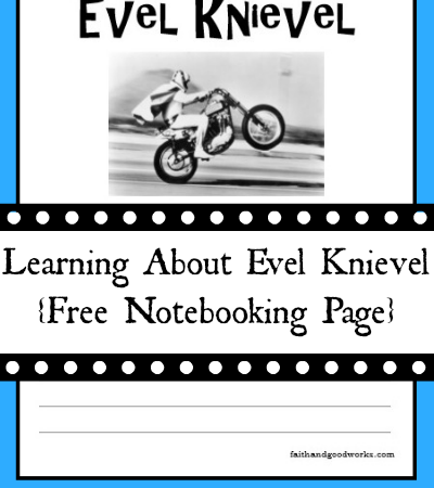 Free Evel Knievel Notebooking Page