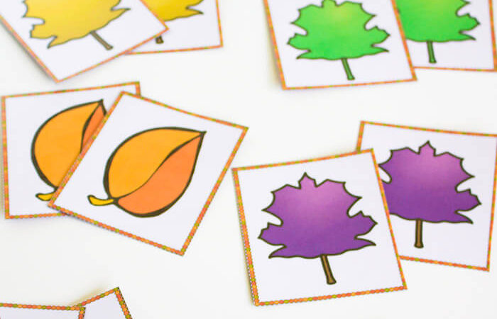 Leaves & Colors Matching Printables