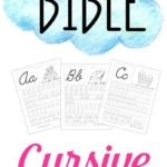 Free Bible Themed Cursive Handwriting Practice Sheets