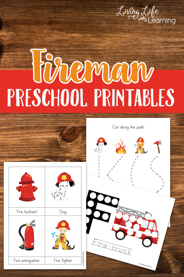This adorable Fireman Preschool Printable pack is perfect for Fire Safety Month! :: www.thriftyhomeschoolers.com