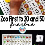Free Zoo themed First to 20 and 50 printables