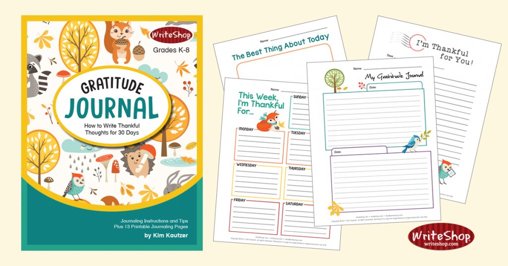 This free printable Gratitude Journal is a great activity during the month of November. :: www.thriftyhomeschoolers.com